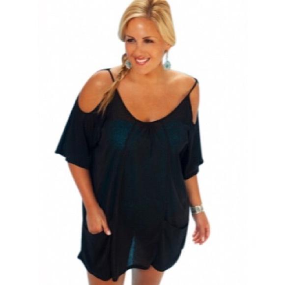 🆕 Plus Size Bathing Suit Cover Up Open Shoulder Boutique